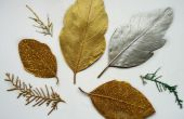 Glittery hojas secas