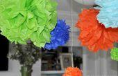 Pompones de papel DIY