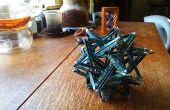 Escultura de origami complejo: K3 - 20 tejido triángulos - sin cola