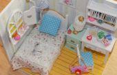 Dormitorio de casa de muñecas miniatura bricolaje