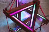 Lámpara led interactiva | Tensegrity estructura + arduino
