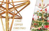 Adorno imitación cobre árbol de Navidad
