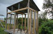 Cobertizo de madera o leña cobertizo - madera almacenamiento arrojar Idea