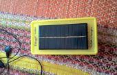 Solar y pilas de 9V cargador móvil