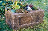 Cómo hacer un jardín a través (plantador de Hypertufa)