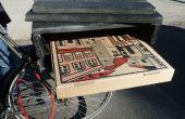 Pizza de portabicicletas construido de materiales de desecho