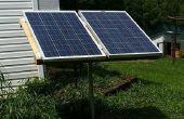 Sistema de energía solar con los componentes de un ciclo de arriba.