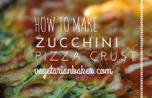 Cómo hacer calabacín corteza de Pizza | Gluten-libre