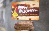 Fácil de la foto / titular de la tarjeta de Halloween.