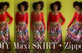 Cómo a DIY un colorido Maxi falda con cremallera