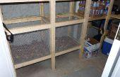 Cubos de vegetales - construcción alambre malla vegetal Bins en cámara fría o raíz celar
