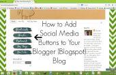 Cómo agregar botones de redes sociales al Blog de Blogger (Blogspot)