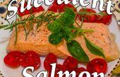 Suculento cocido salmón