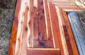 Cómo construir una acera impresionante con reciclado de madera por sólo $50.00