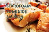 $3 espuma de estireno vacío salmón