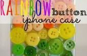 Arco iris botón teléfono caso