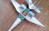 Avión de combate moderno de E-Waste
