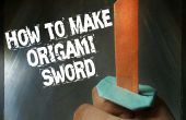 Cómo hacer Origami espada