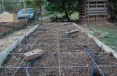 Cuadrados pie guías de plantación jardinería
