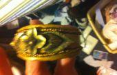 Oro pulsera brazalete arcilla con Vintage Pin Focal
