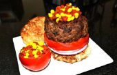 La Molecular hamburguesa con salsa de tomate y Caviar de mostaza