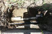 Reparación de línea de aspersores rotos