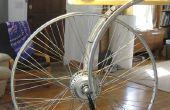 Homenaje a rueda de bicicleta de duchamp - un modo dual led lámpara (generador del cubo DC o AC plugin)