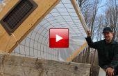 Aro bricolaje casa marco de frío para cultivar un huerto