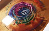 Pintura 3D: capas de resina y pintura acrílica
