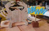 Cangrejo estilo rústico - madera reciclada de palets
