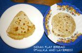 Pan plano indio - Phulka/Roti/Chapati (inflado) y capas