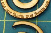 Hacer un espiral madera colgante