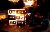 Homenaje retro - lámpara de cintas de CaSsette con interruptor de palanca de mando