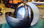 Hilado de acero y la escultura de corte por chorro de agua