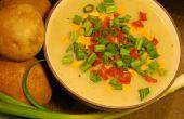 Cremoso al horno sopa de patata (vegana)
