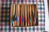 Partición para herramientas de joyería de papel