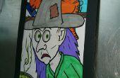 Actividad de colorear de Halloween ilusión óptica
