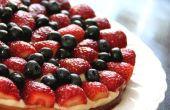 Tarta de fresa-arándano