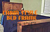 """Cabina estilo marco de la cama (de 2 """"x 4"""" s)"""