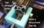 Grifo rectos agujeros en extrusión de aluminio con un 3D impresión Pulse plantilla (20mm / Makerslide de Openbuilds V-ranura, Misumi, universal)