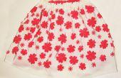 Corte por láser: Falda patrón en forma de flor cereza