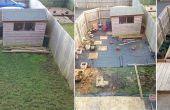 Antes y después del pequeño jardín
