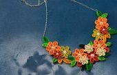 Cómo hacer collares de flor de Quilling para niñas