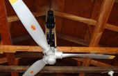 Ventilador de techo de hélice de avión