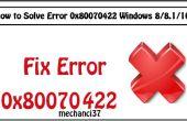 Cómo solucionar Error 0x80070422 Windows 8, 8.1 y 10