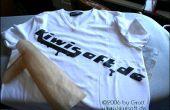 Diseño de camiseta instantánea con impresora láser