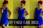 Cómo a DIY un cuello V Flare Vestido   DIY ropa