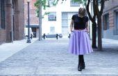 Círculo de Midi DIY falda con bolsillos: sin patrón!
