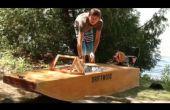 Barco eléctrico de madera