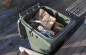 Montar un piso ajustable para un contenedor de leña wheelie bin